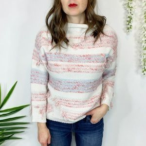 LOU & GREY knit sweater distressed threading 0945